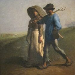Going to Work by Jean-François Millet, 1851-53