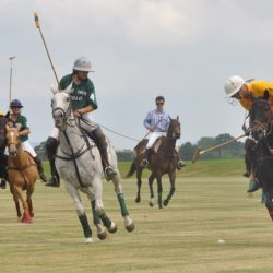 Polo players on a field
