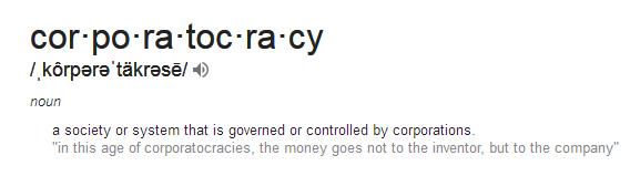 definition of corporatacracy