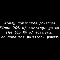 """Money Dominates Politics."""