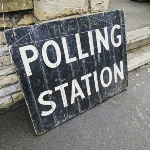image of a polling place