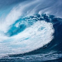 image of a blue wave
