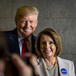 President Donald Trump a Nancy Pelosi