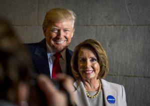 President Donald Trump a Nancy Pelosi