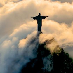 Christ the Redeemer representing Christmas