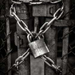 Slavery image of chains
